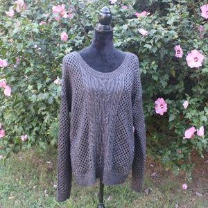 Apt 9 Charcoal Oversize Chunky Sweater Sz XL EUC